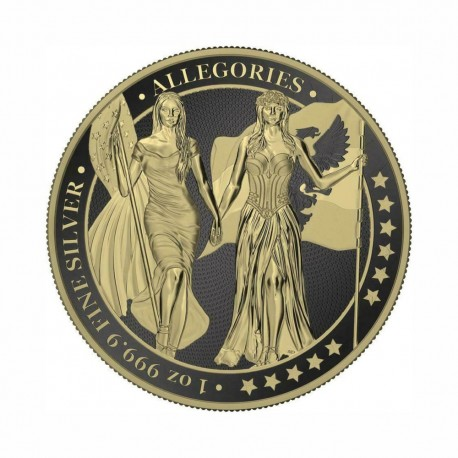 Germania 2019 - Columbia & Germania - Black Varnish & Gilded 1 Oz Silver