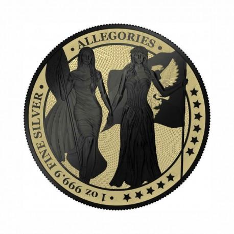 Germania 2019 - Columbia & Germania -Gilded & Black Varnish 1 Oz Silver
