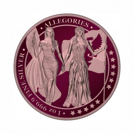 Germania 2019 - Columbia & Germania -Maroon & Rose Gold 1 Oz Silver