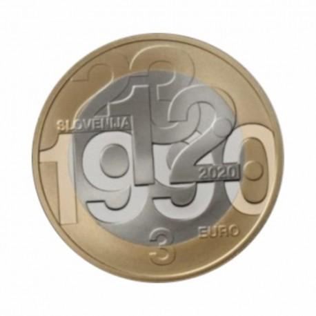 "Slovenia 3 euro 2020 - ""Referendum on Slovenia's independence"" - UNC"