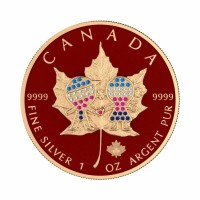 Canada 2019 - Maple Leaf - Family Day-Bejeweled 1 Oz Silver