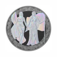Germania 2019 - Columbia & Germania - Antique & Pearl Holo 1 Oz Silver