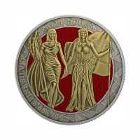 Germania 2019 - Columbia & Germania - Antique Gold 1 Oz Silver