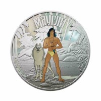 Cook Islands 2011 - Jungle Book - Mowgli 1 Oz Silver