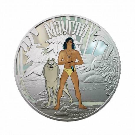 Cook Islands 2011 - Jungle Book - Mowgli 1 Oz Silver