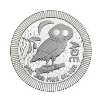 Nova Zelandija Atenska sova 1 oz srebrnik 2021