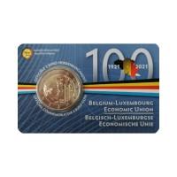 "Belgium 2021 - ""100 Years Of BLEU"" - coincard (Dutch version)"