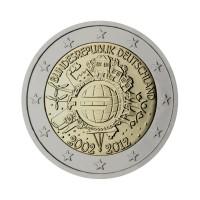 """Nemčija 2012 - """"Deset let Evra"""" - F - UNC"""