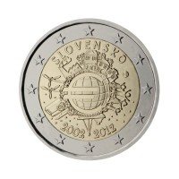 "Slovaška 2012 - ""Deset let Evra"" - UNC"
