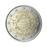 "Španija 2012 - ""Deset let Evra"" - UNC"