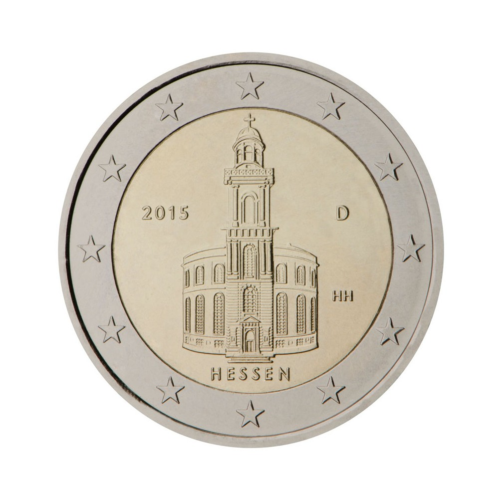 "Germany 2 euro coin 2015 /""Hessen/"" UNC"