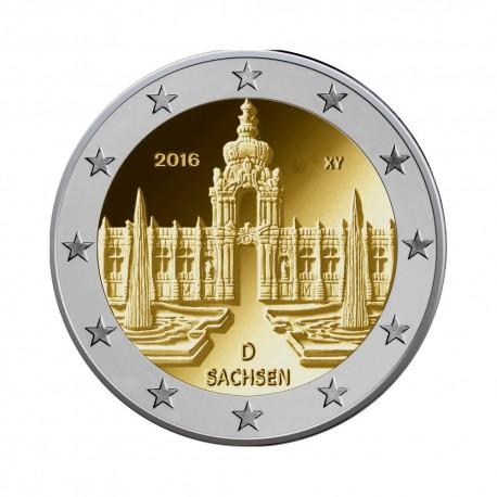 """Nemčija 2016 - """"Saxsony - Saška"""" - J - UNC"""