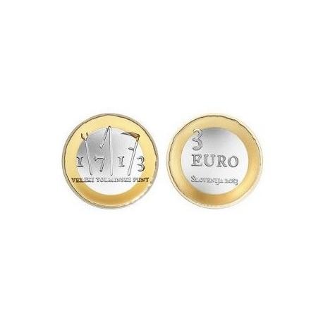 """Slovenia 3 euro 2013 - """"Tolmin Peasant Revolt"""" - UNC"""