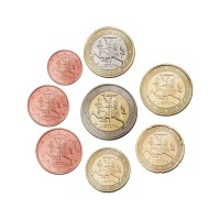 Litva 2015 1 cent - 2 evro set - UNC