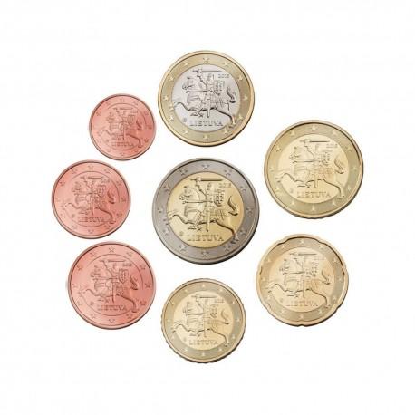 Litva 2015 1 cent - 2 evro set - UNC
