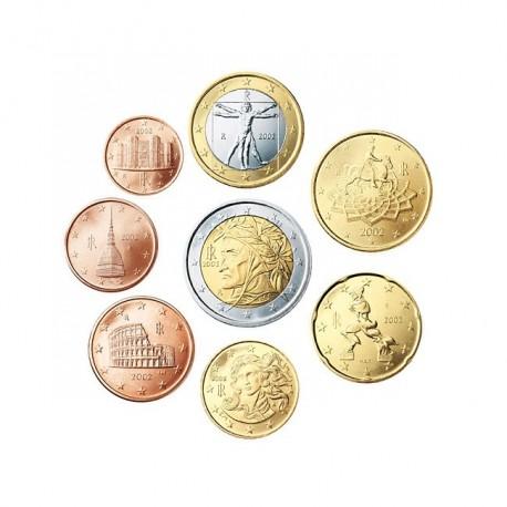 Italija 2002 1 cent - 2 evro set - UNC