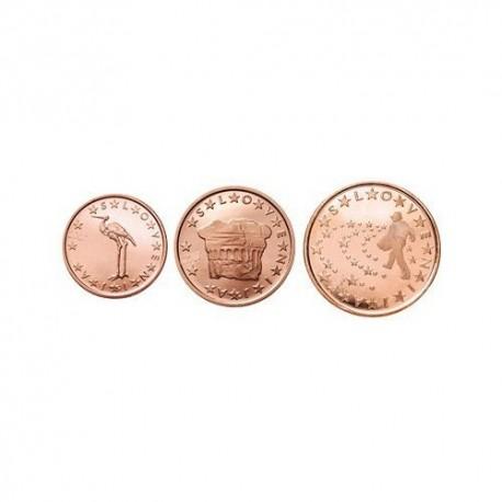 Slovenija 2007 1 cent - 5 cent set - UNC