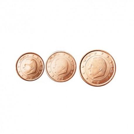 Belgija 2012 1 cent - 5 cent set - UNC