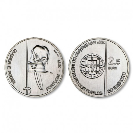 "Portugal 2.5 euro 2011 - ""Pupils of the Army"" - UNC"