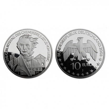 """Nemčija 10 evro 2003 """"Justus Liebig"""" - J - UNC"""