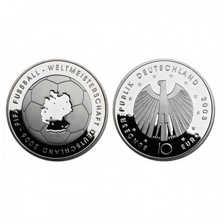 """Germany 10 euro 2003 """"Football World Cup 2006"""" - D - UNC"""