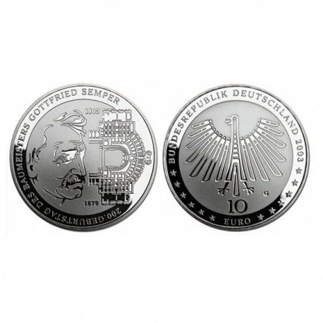 """Nemčija 10 evro 2003 """"Gottfried Semper"""" - G - UNC"""