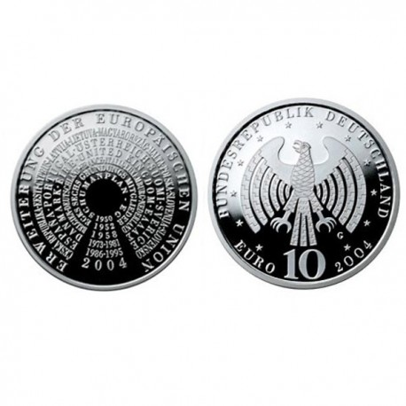 "Germany 10 euro 2004 ""Enlargement of the EU"" - G - UNC"