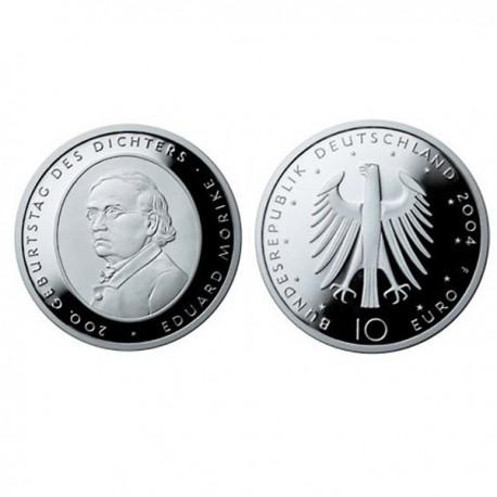 """Germany 10 euro 2004 """"Eduard Mörike"""" - F - UNC"""