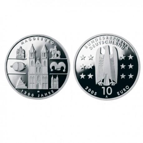 """Nemčija 10 evro 2005 """"Magdeburg"""" - A - UNC"""