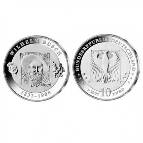 """Nemčija 10 evro 2007 """"Wilhelm Busch"""" - D - UNC"""