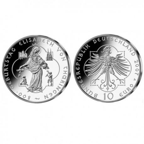 "Nemčija 10 evro 2007 ""Elisabeth von Thüringen"" - A - UNC"