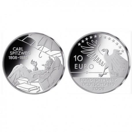 "Germany 10 euro 2008 ""Carl Spitzweg"" - D - UNC"