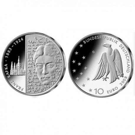 "Germany 10 euro 2008 ""Franz Kafka"" - G - UNC"
