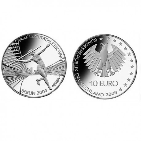 """Germany 10 euro 2009 """"Athletic WC"""" - A - UNC"""