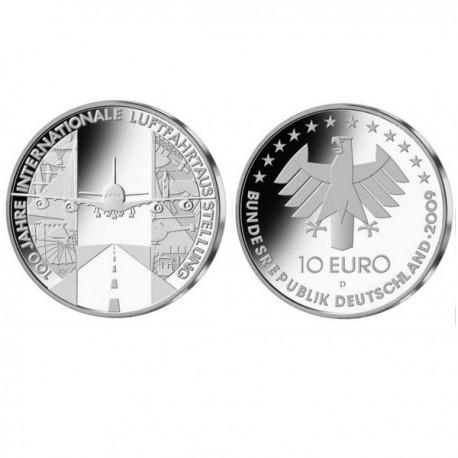 "Germany 10 euro 2009 ""Avaiation Exhibition"" - D - UNC"
