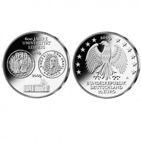 "Nemčija 10 evro 2009 ""Univerza v Leipzigu"" - A - UNC"