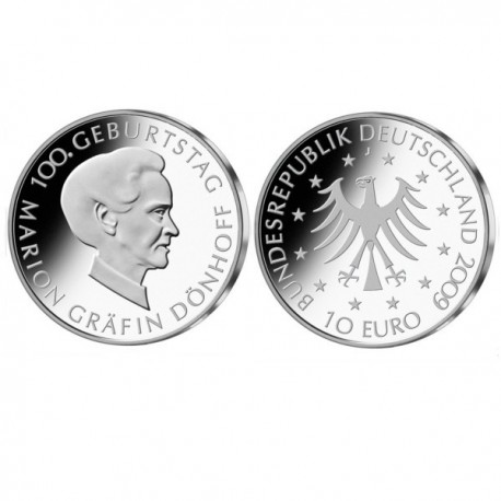 "Germany 10 euro 2009 ""Marion Dönhoff"" - J - UNC"