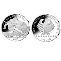 "Germany 10 euro 2010 ""Alpine Ski World Cup"" - J - UNC"