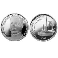 """Finska 10 euro - 2003 """"Carl Gustaf"""" - BU"""