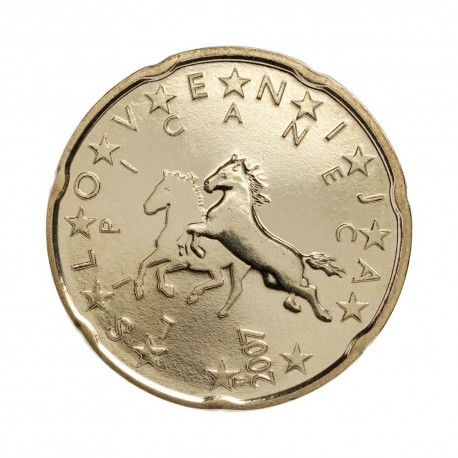 Slovenija 20 centov 2007 - UNC