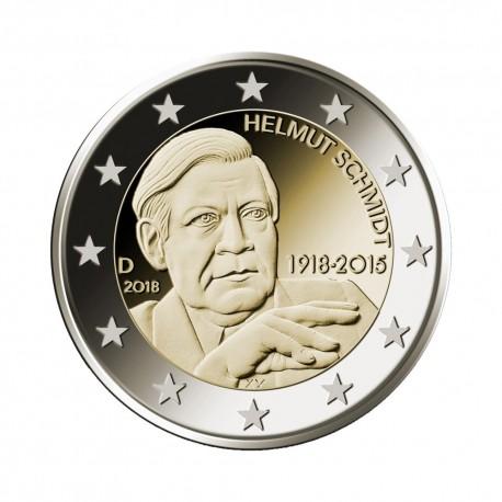 """Nemčija 2018 - """"Helmut Schmidt"""" - J - UNC"""