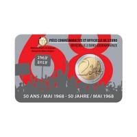 """Belgija 2018 - """"Maj 1968"""" - UNC kovanec v kartici"""