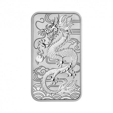 Australian Rectangular Dragon 1 oz Silver 2019