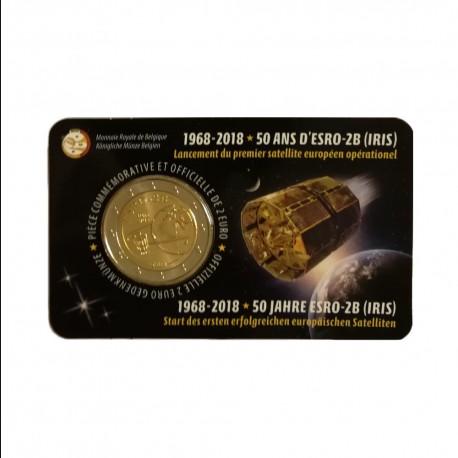 """Belgium 2018 - """"Satelite ESRO"""" - coincard (French version)"""