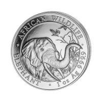 Somalija Slon 1 oz srebrnik 2019