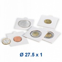 Coin holder - selfadhesive 27,5 mm - for 2 EUR coin (1 piece)