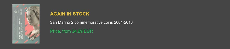 San Marino 2 euro commemorative coins 2004-2018