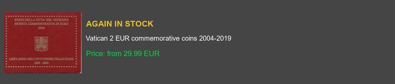 Vatican 2 euro commemorative coins
